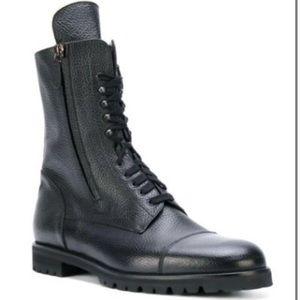 Manolo Blahnik Black Combat Boots. Size 36.